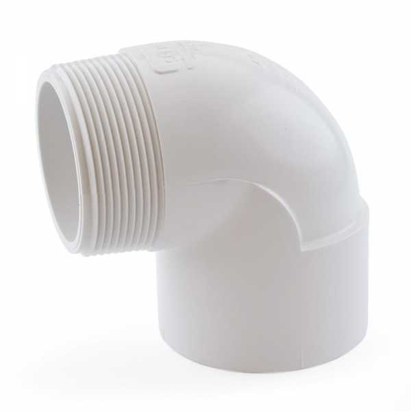 "2"" PVC (Sch. 40) Socket x MIP 90° Elbow"