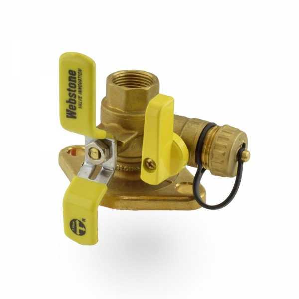 "3/4"" FPT Isolator Flange Valve w/ Drain & Rotating Flange"