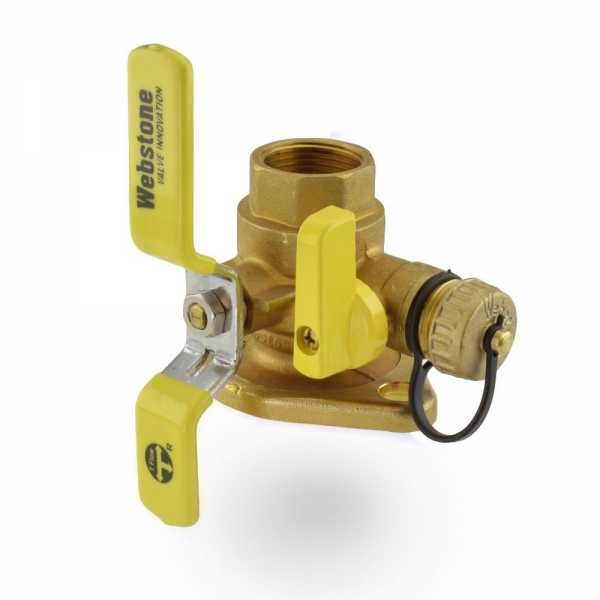 "1"" FPT Isolator Flange Valve w/ Drain & Rotating Flange"