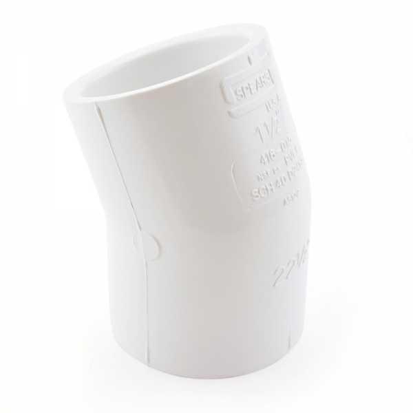 "1-1/2"" PVC (Sch. 40) 22.5° Elbow"