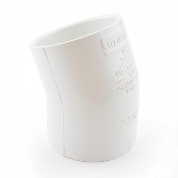 "2"" PVC (Sch. 40) 22.5° Elbow"