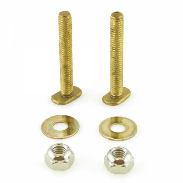 """5/16"""" x 2-1/4"""" Long Solid Brass Closet Bolts Kit"""