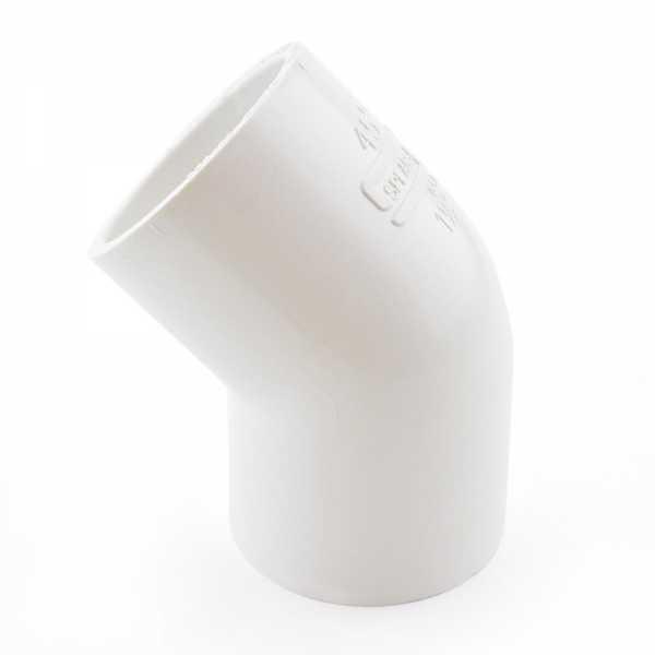 "1-1/2"" PVC (Sch. 40) 45° Elbow"