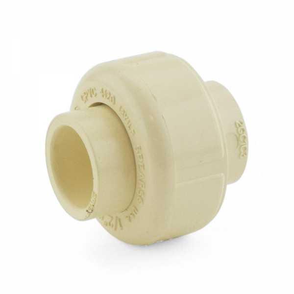 "1/2"" CTS CPVC Union w/ EPDM O-ring (Socket x Socket)"