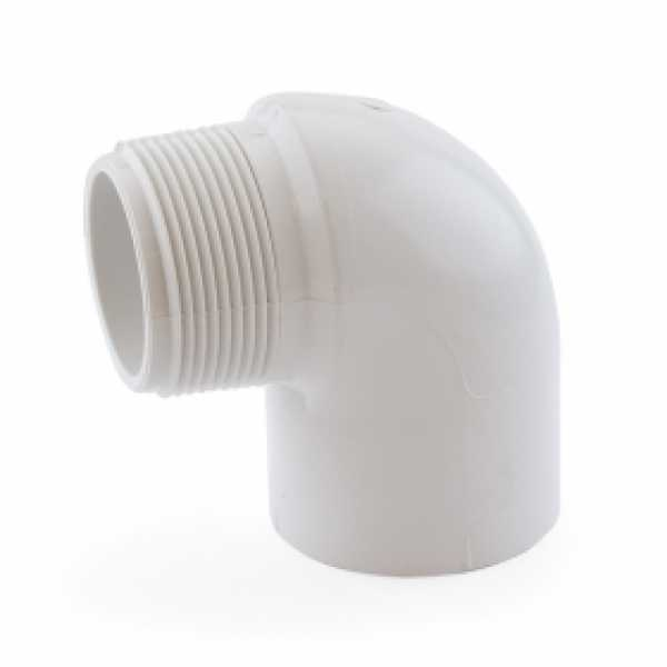 "1-1/2"" PVC (Sch. 40) Socket x MIP 90° Elbow"