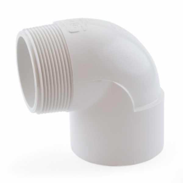 "2"" PVC (Sch. 40) Socket x MIP 90° Elbow"