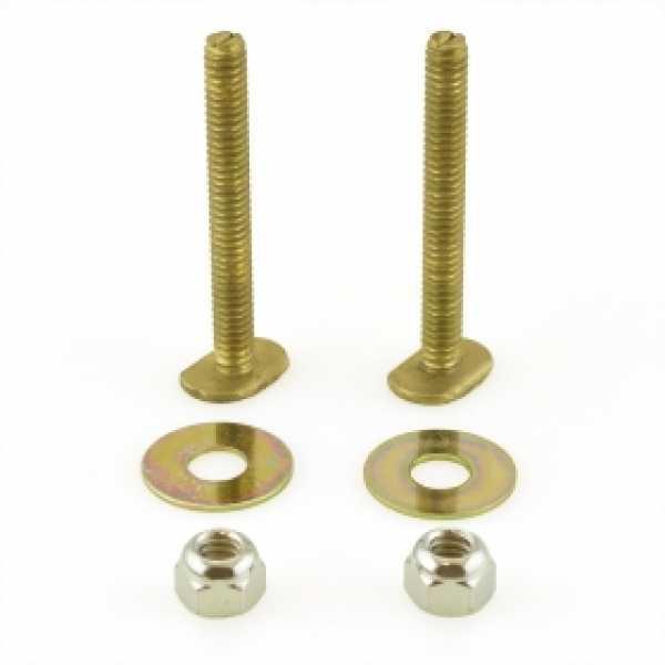 """1/4"""" x 2-1/4"""" Long Solid Brass Closet Bolts Kit"""