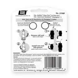 Replacement Flush Valve Seal Kit for American Standard Champion 3 and Kohler Class Five & Class Six Toilets