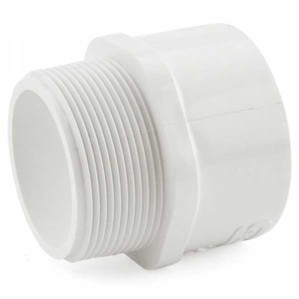 """2"""" PVC (Sch. 40) MIP x Socket Adapter"""