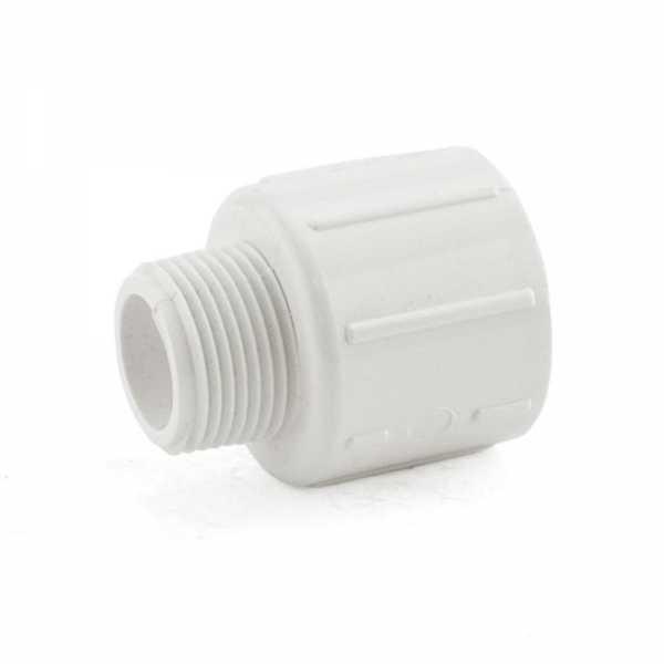 """3/4"""" x 1"""" PVC (Sch. 40) MIP x Socket Adapter"""