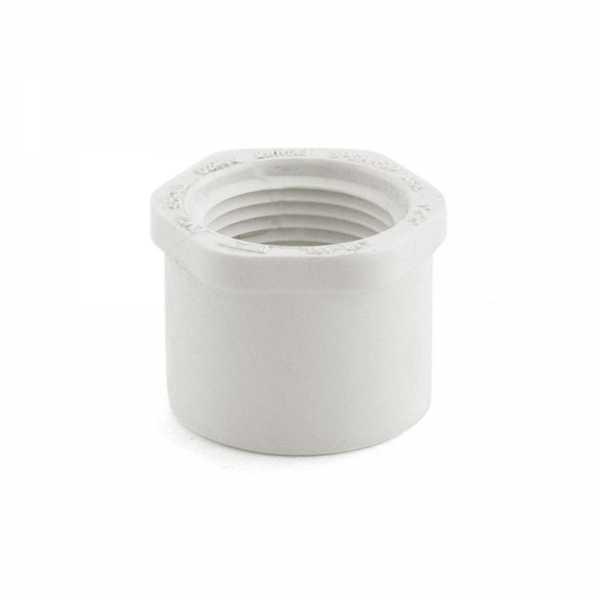 """1"""" x 3/4"""" PVC (Sch. 40) Spigot x FIP Bushing"""