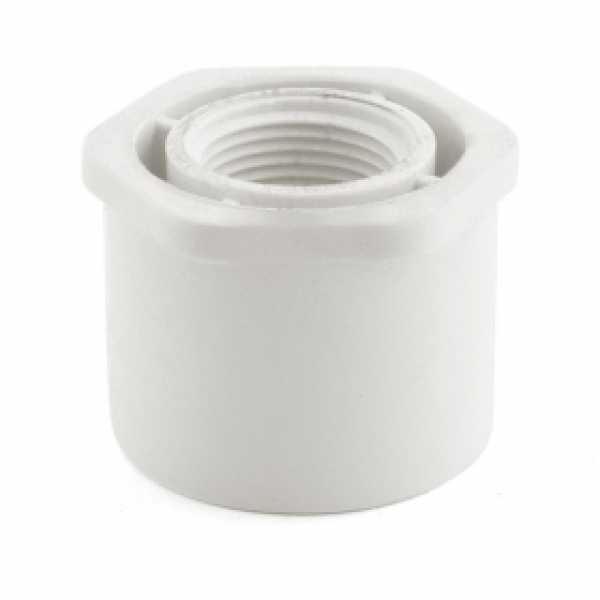 """1-1/2"""" x 3/4"""" PVC (Sch. 40) Spigot x FIP Bushing"""