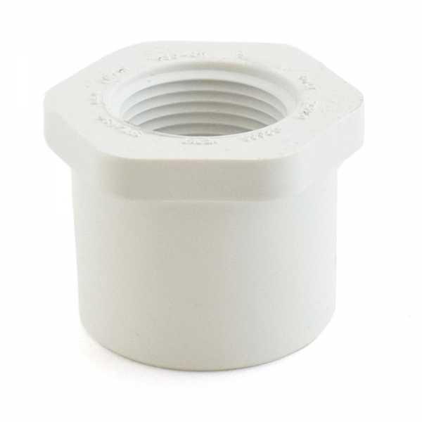 """1-1/2"""" x 1"""" PVC (Sch. 40) Spigot x FIP Bushing"""