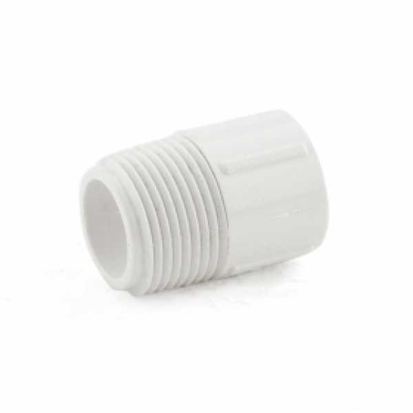 """3/4"""" x 1/2"""" PVC (Sch. 40) MIP x Socket Adapter"""