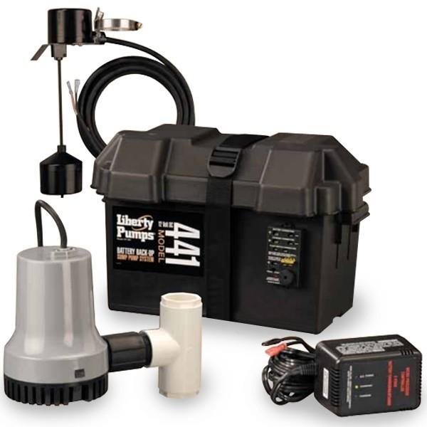 441 Liberty Pumps Auto Emergency Sump Pump System, 12V, Subm.