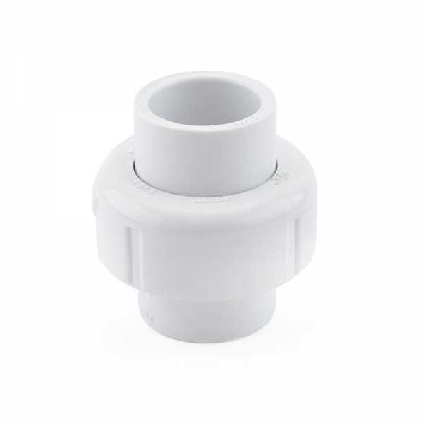 """1/2"""" PVC (Sch. 40) Socket Union w/ Buna-N O-ring"""