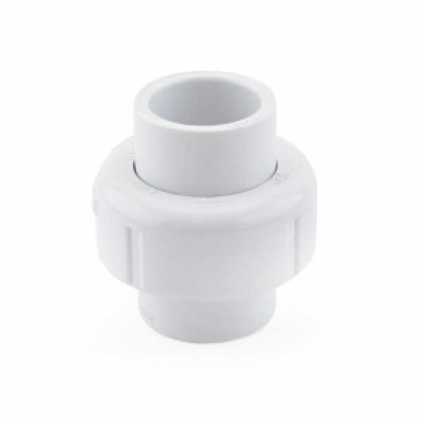 "1/2"" PVC (Sch. 40) Socket Union w/ Buna-N O-ring"