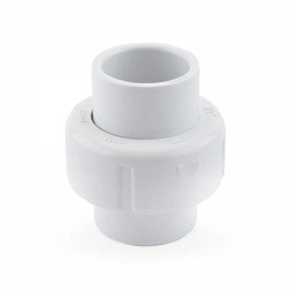 "3/4"" PVC (Sch. 40) Socket Union w/ Buna-N O-ring"