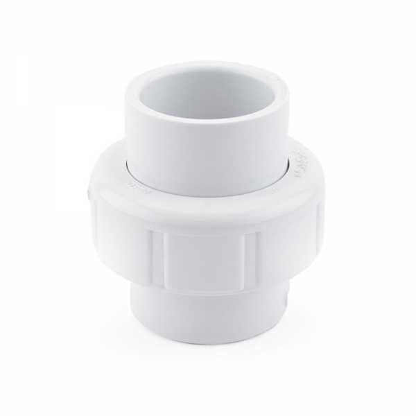 """1"""" PVC (Sch. 40) Socket Union w/ Buna-N O-ring"""