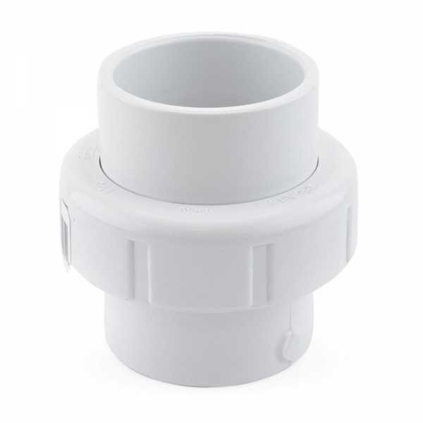 "1-1/2"" PVC (Sch. 40) Socket Union w/ Buna-N O-ring"