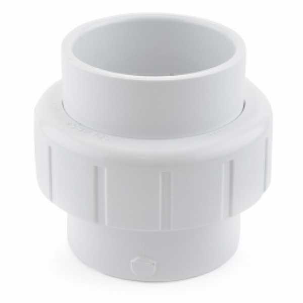 """2"""" PVC (Sch. 40) Socket Union w/ Buna-N O-ring"""