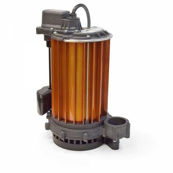 Automatic Sump Pump w/ Vertical Float Switch, 10' cord, 1/2HP, 115V