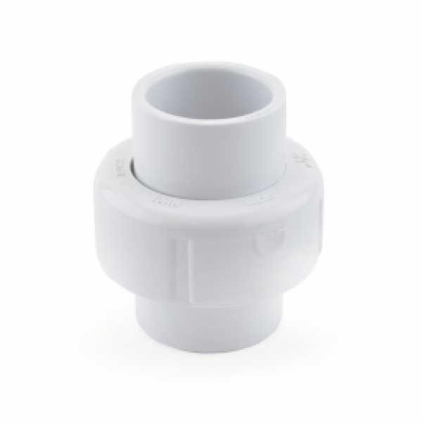 """3/4"""" PVC (Sch. 40) Socket Union w/ Buna-N O-ring"""