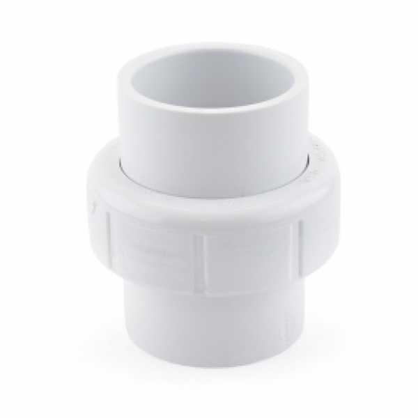 """1-1/4"""" PVC (Sch. 40) Socket Union w/ Buna-N O-ring"""