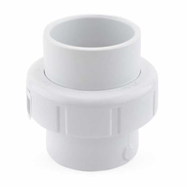 """1-1/2"""" PVC (Sch. 40) Socket Union w/ Buna-N O-ring"""