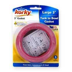 """Korky 3"""" Universal (Except Kohler) Tank-To-Bowl Toilet Gasket"""