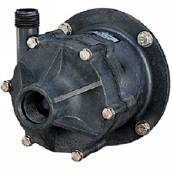 Little Giant 586698 TE-6-MD-HC Highly Corrosive Handling Pump Head Less Motor