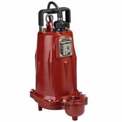 Automatic Effluent Pump w/ Wide Angle Float Switch, 1HP, 25' cord, 208/230V