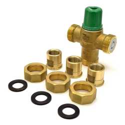 "1/2"" Union Threaded Mixing Valve (Lead-Free), 85-175F"