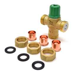 "3/4"" Union Sweat Mixing Valve (Lead-Free), 85-175F"