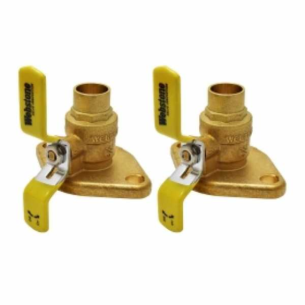 "3/4"" Sweat Isolator Flange Valves (pair)"