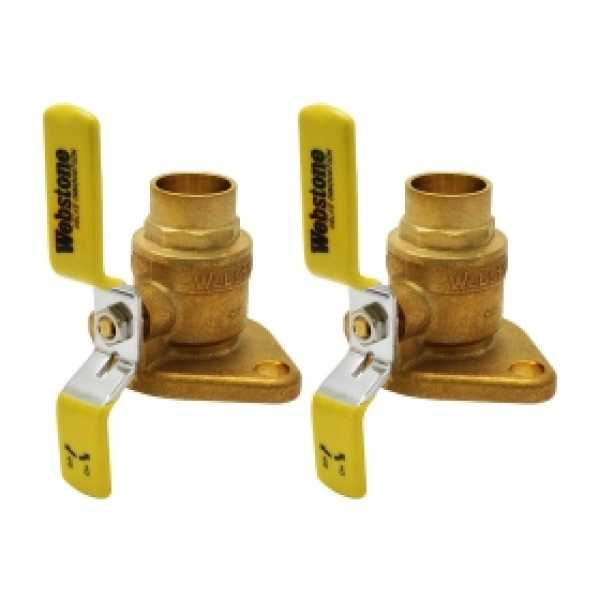 "1"" Sweat Isolator Flange Valves (pair)"
