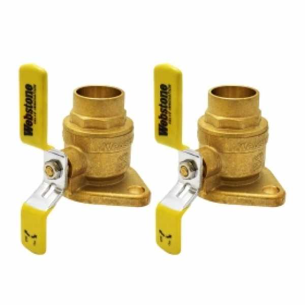 "1-1/4"" Sweat Isolator Flange Valves (pair)"