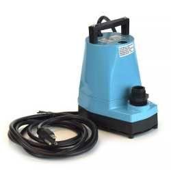 Manual Submersible Utility/Sump Pump w/ 10' cord, 1/6HP, 115V