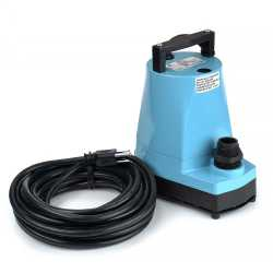 Manual Submersible Utility/Sump Pump w/ 25' cord, 1/6HP, 115V