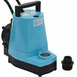 Automatic Submersible Utility/Sump Pump w/ Piggyback Diaphragm Switch, 10' cord, 1/6HP, 115V