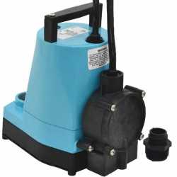 Automatic Low-Level Submersible Utility/Sump Pump w/ Piggyback Diaphragm Switch, 18' cord, 1/6HP, 115V