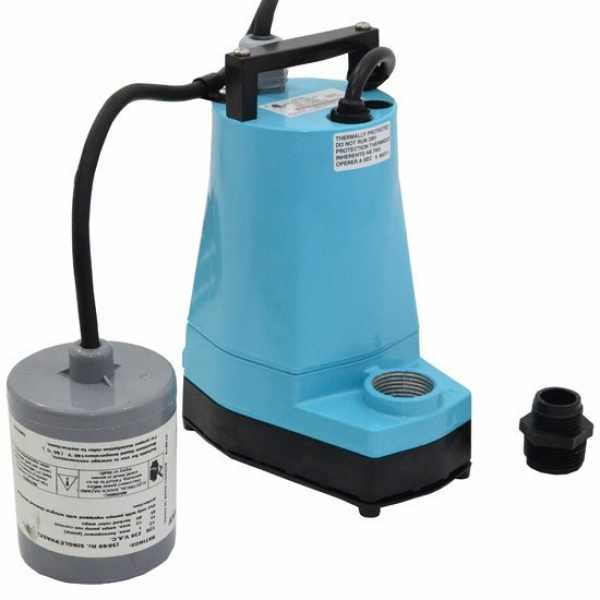 Automatic Submersible Utility/Sump Pump w/ Wide Angle Float Switch, 10' cord, 1/6HP, 115V