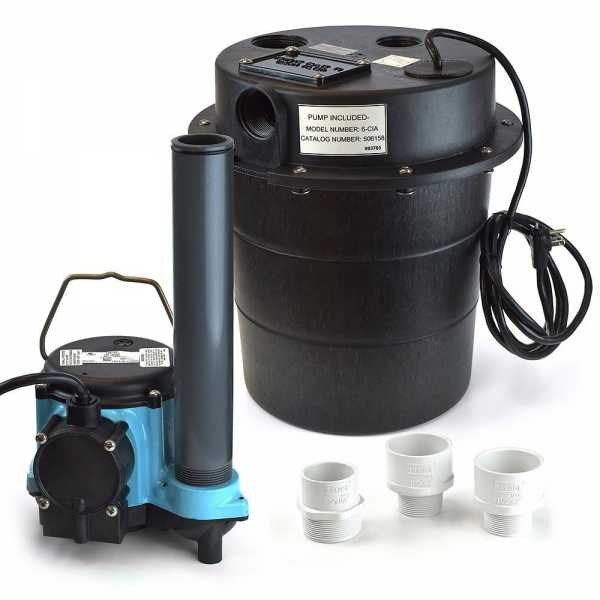 Drainosaur Water Removal System w/ 9' cord, 5 gal., 1/3HP, 115V