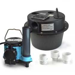 Drainosaur Compact Water Removal System w/ 9' cord, 3.5 gal., 1/3HP, 115V