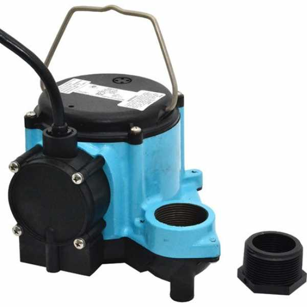 "Little Giant 506158 1/3 Hp Diaphragm Switch Sump Pump, 10"" Cord, 110v ~ 120v"