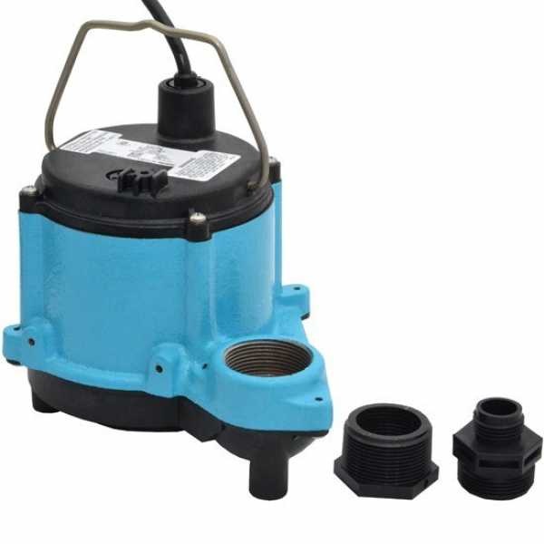 """Little Giant 506271 1/3 Hp Dewatering Diaphragm Switch Sump Pump, 10"""" Cord, 110v ~ 120v"""