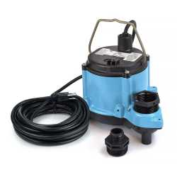 Manual Sump Pump, 25' cord, 1/3HP, 115V
