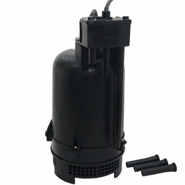 """Little Giant 507700 1/3 Hp Intelliswitch Sump Pump W/ Light, High-water Alarm, 10"""" Cord, 110v ~ 120v"""