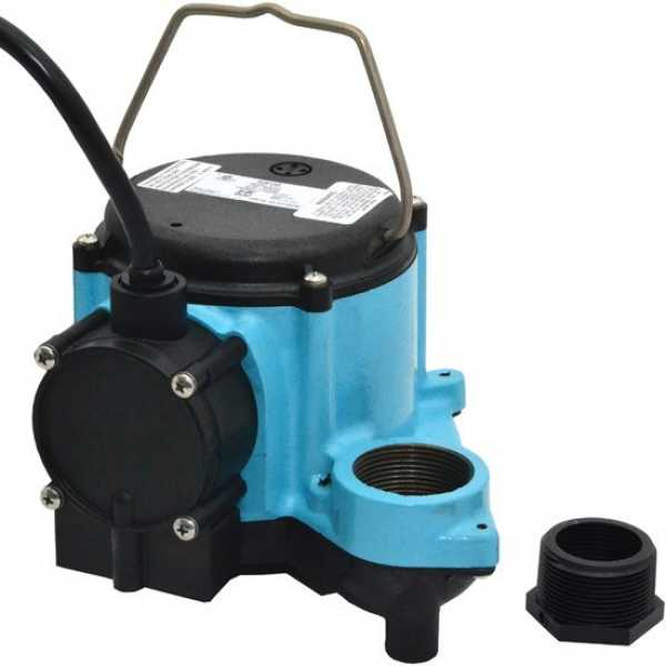 "Little Giant 508158 4/10 Hp Diaphragm Switch Sump Pump, 25"" Cord, 110v ~ 120v"