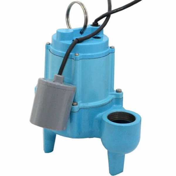 Automatic Sewage Pump w/ Wide Angle Float Switch 20' cord, 4/10HP, 115V